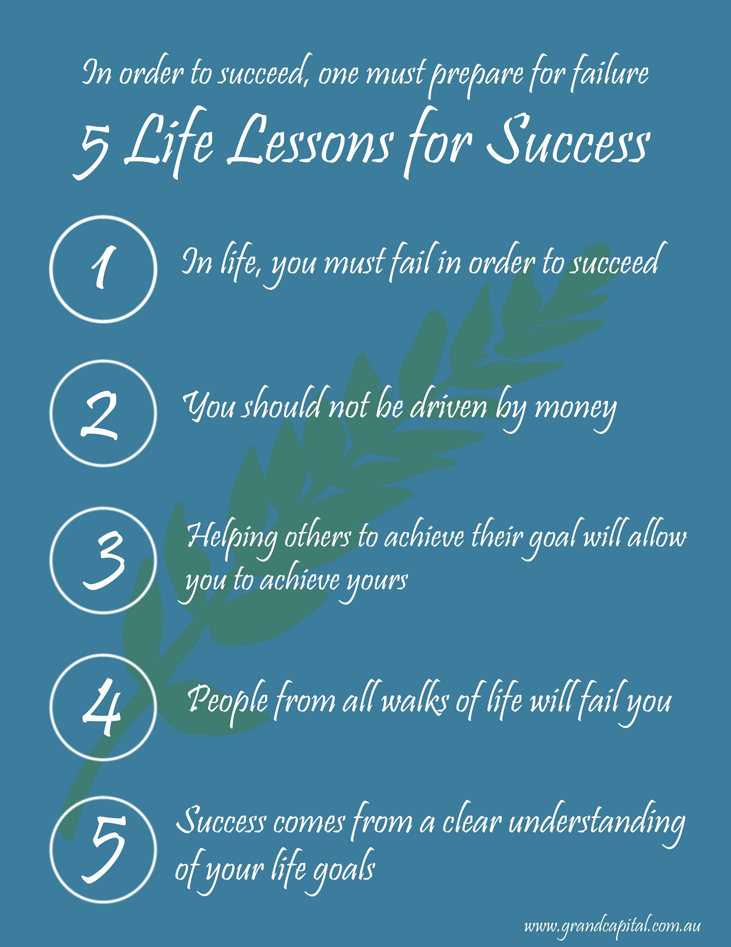 5 Life Lessons for Success